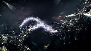 Превью обои электричество, ток, метал, сверкание, блеск