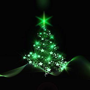 Превью обои елка, рождество, новый год, арт