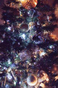 Превью обои елка, украшения, рождество, новый год