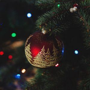 Превью обои елочная игрушка, новый год, рождество, елка