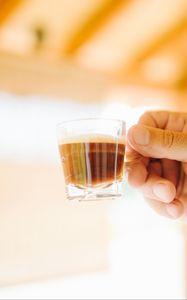 Превью обои эспрессо, кофе, напиток, чашка, рука