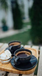 Превью обои эспрессо, кофе, напиток, чашки, завтрак