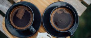 Превью обои эспрессо, кофе, напиток, чашка, черный