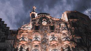 Превью обои фасад, здание, архитектура, дом бальо, барселона, испания