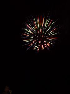 Превью обои фейерверк, искры, разноцветный, небо, ночь