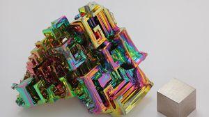 Превью обои фигура, форма, разноцветный, камень, куб