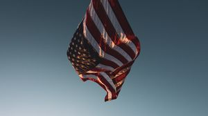 Превью обои флаг, америка, символика, ветер
