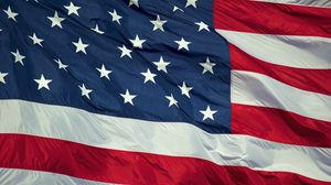 Превью обои флаг, америка, сша, ткань