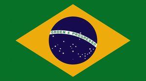 Превью обои флаг, бразилия, символика