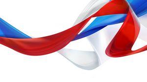 Превью обои флаг, россия, символика, ленты, триколор