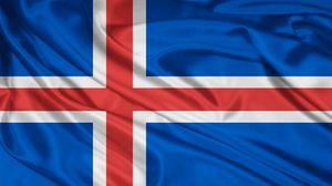 Превью обои флаг, символика, цвета, материал, шелк, полосы, исландия