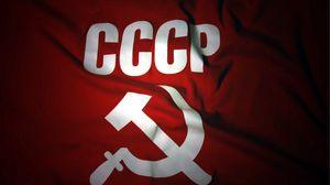 Превью обои флаг, ссср, россия, серп, молот