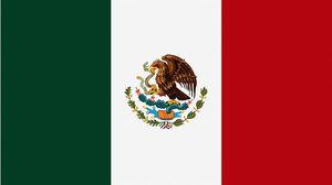 Превью обои флаг, змея, мексика, орел