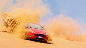 Превью обои ford, песок, дрифт, пустыня
