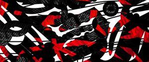 Превью обои формы, линии, красный, черный, абстракция