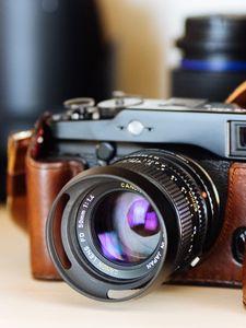 Превью обои фотоаппарат, линза, объектив