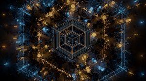 Превью обои фрактал, геометрия, фигуры, линии, абстракция