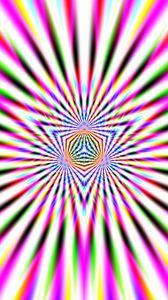 Превью обои фрактал, линии, полосы, абстракция, разноцветный