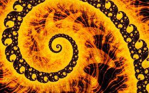 Превью обои фрактал, спираль, узор, абстракция, желтый