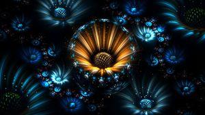 Превью обои фрактал, цветы, абстракция