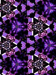 Превью обои фрактал, узор, фиолетовый, черный, абстракция