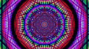 Превью обои фрактал, узор, калейдоскоп, запутанный, разноцветный, абстракция
