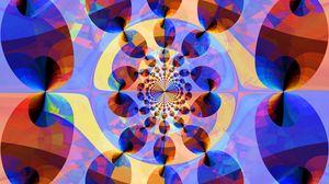 Превью обои фрактал, узор, мозаика, калейдоскоп, разноцветный