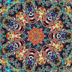 Превью обои фрактал, узор, разноцветный, пестрый, абстракция