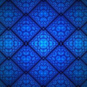 Превью обои фрактал, узор, ромбы, фигуры, абстракция, синий