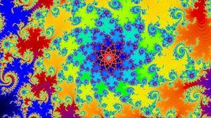 Превью обои фрактал, узор, цветок, абстракция, разноцветный