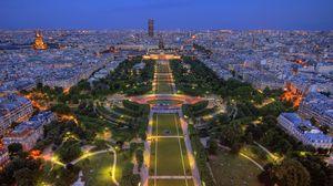 Превью обои франция, париж, здания, стадион, парк, hdr