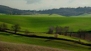 Превью обои франция, холмы, поле, трава