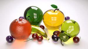 Превью обои фрукты, стекло, разноцветный, коллекция