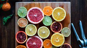 Превью обои фрукты, цитрусы, нарезка, сочный