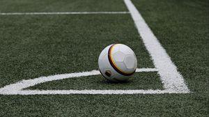 Превью обои футбол, футбольный мяч, газон, разметка