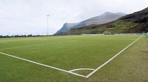 Превью обои футбольное поле, футбол, газон, разметка, спорт