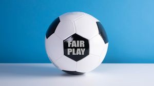 Превью обои футбольный мяч, мяч, футбол, фраза, слова