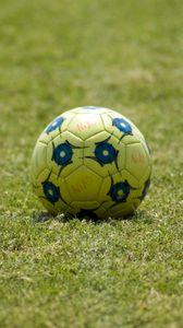 Превью обои футбольный мяч, мяч, футбол, трава