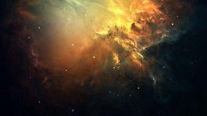 Превью обои галактика, космос, свет, звезды, туманность
