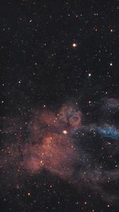 Превью обои галактика, туманность, свечение, звезды, сияние