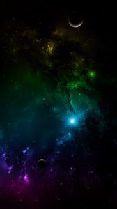 Превью обои галактика, вселенная, космос, планеты, разноцветный