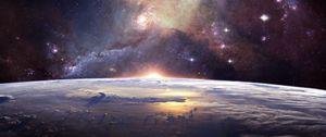 Превью обои галактика, вселенная, звезды, космос, пространство