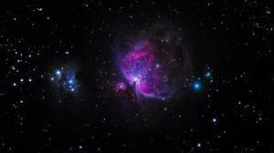 Превью обои галактика, звезды, блеск, ночное небо