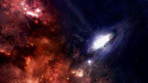 Превью обои галактика, звезды, черная дыра, вселенная