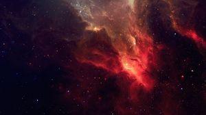 Превью обои галактика, звезды, свет, туманность