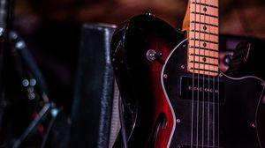 Превью обои гитара, бас гитара, музыкальный инструмент