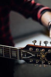 Превью обои гитара, гриф, колки, настройка, музыка