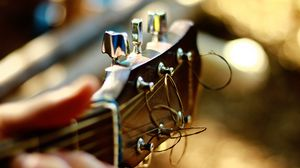 Превью обои гитара, гриф, струны