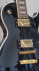Превью обои гитара, гриф, струны, музыкальный инструмент