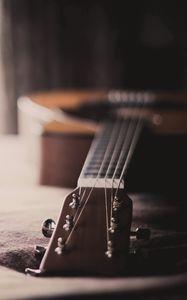 Превью обои гитара, макро, дом